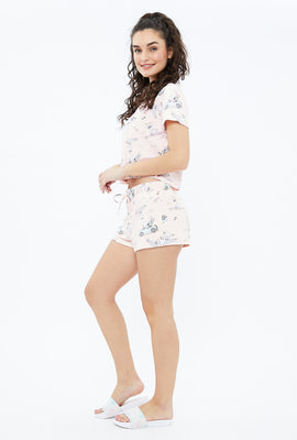 Super Soft Peanuts Graphic Pajama Shorts