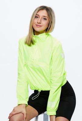 Aéropostale Crop Mock Neck Windbreaker