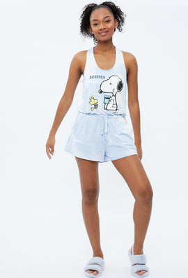 Super Soft Tie Dye Peanuts Besties Graphic Pajama Romper