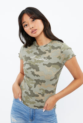 Aéropostale Ribbed Graphic Baby Tee