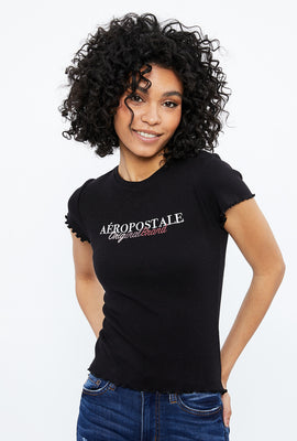 Aéropostale Original Brand Ribbed Graphic Baby Tee