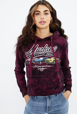 Classic Mustang Tie Dye Graphic Hoodie