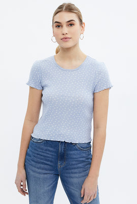 Aéropostale Floral Jacquard Crop Baby Tee