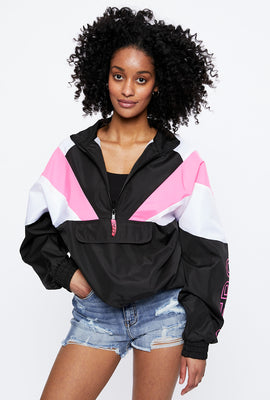 AERO Quarter Zip Mock Neck Pullover Windbreaker