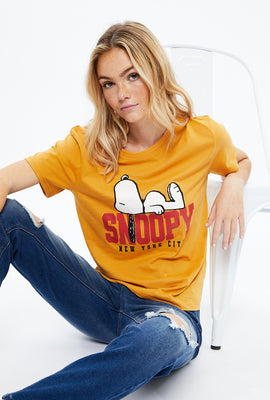 Snoopy NYC Boyfriend Graphic Tee
