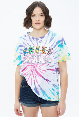Oversized Grateful Dead Tie Dye Graphic Tee
