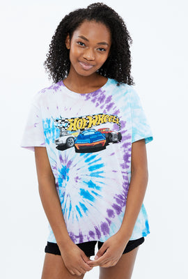 Hot Wheels Tie Dye Boyfriend Graphic Tee
