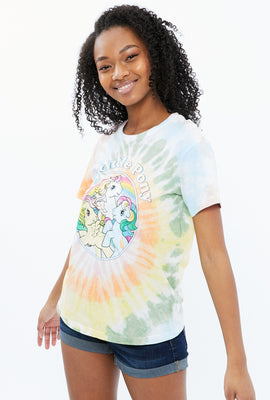 T-shirt noué-teint coupe garçonne à imprimé My Little Pony