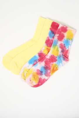 Tie Dye Demi Crew Socks 2-Pack