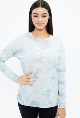 Oversized Solstice Tie Dye Long Sleeve Graphic Tee