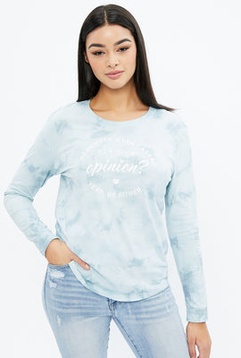 Classic Opinion Tie Dye Long Sleeve Graphic Tee