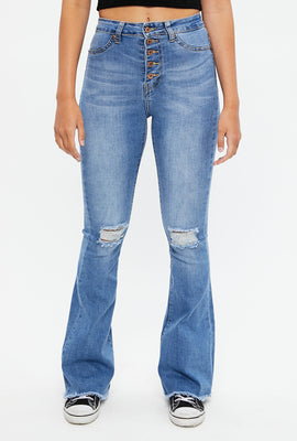 Seriously Stretchy High Rise Flare Jean