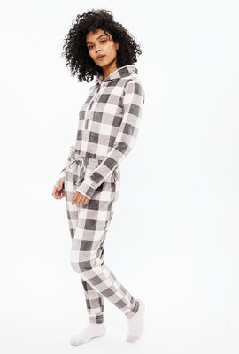 Cozy Velour Plaid Onesie