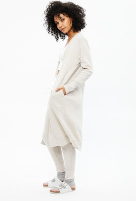 Super Soft Ribbed Open Robe