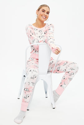 Super Soft Peanuts Snoopy PJ Set