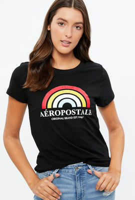 Aéropostale Rainbow Graphic Tee