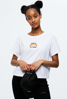 Boxy Crop Closets are for Clothes Graphic Tee