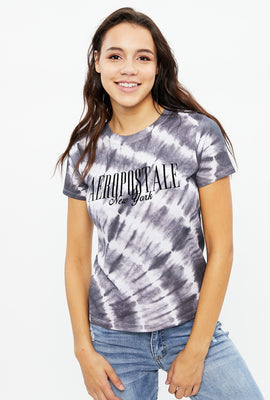Aéropostale Chest Print Tie Dye Classic Graphic Tee