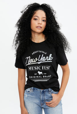 Aéropostale New York Music Fest Boyfriend Graphic Tee