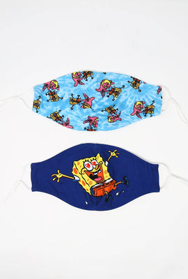Super Soft Adjustable Double Layered Reusable Spongebob Mask 2-Pack