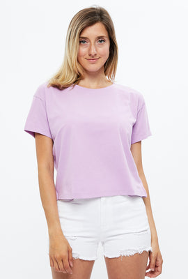 Boxy Crop Solid Tee