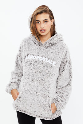 Aéropostale Sherpa Pullover Graphic Hoodie