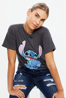 Smiling Stitch Boyfriend Graphic Tee