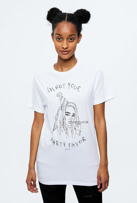 T-shirt à imprimé Not Your Party Favor