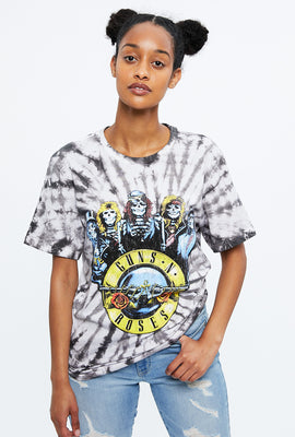 Tie Dye Guns N Roses Graphic Tee