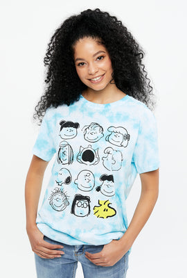 Charlie Brown Tie Dye Boyfriend Graphic Tee