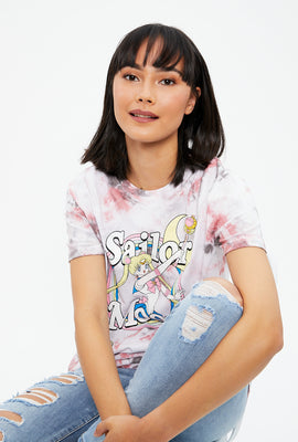 Sailor Moon Boyfriend Tie Dye Graphic Tee
