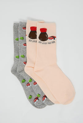 Soy Good Together Crew Socks 2-Pack