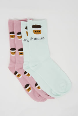 But First, Coffee Crew Socks 2-Pack