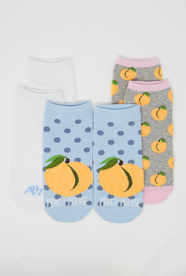 Aéropostale Peach Please Ankle Socks 3-Pack