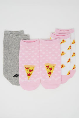 Pizza Ankle Socks 3-Pack