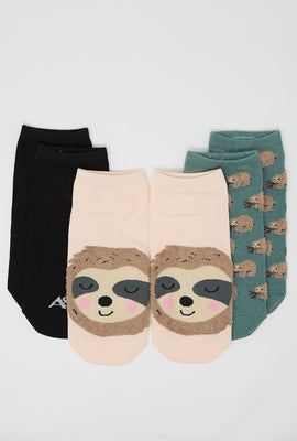 Sloth Ankle Socks 3-Pack