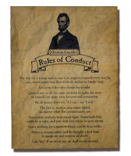 Abraham Lincoln Rules of Conduct