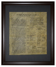 The Articles Of Confederation, 1781, Framed