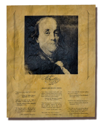 Thoughts from Benjamin Franklin