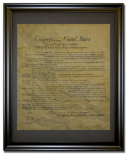 Bill of Rights, 1789 Framed