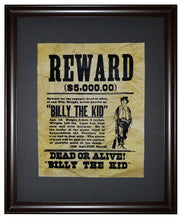 Billy the Kid Wanted Poster, Framed