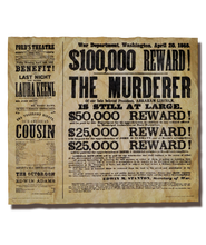 Reward for Lincoln's Assassin