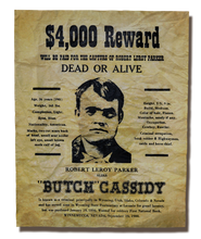Butch Cassidy Wanted Poster