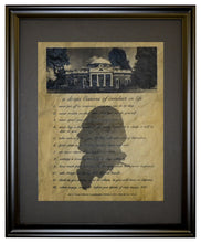 Thomas Jefferson, cannons of conduct in life - 1811, Framed