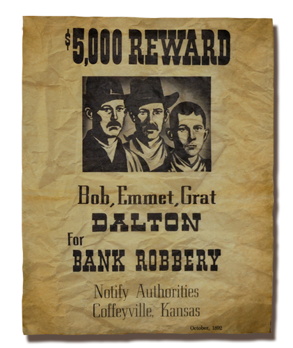 Dalton Brothers Wanted Poster