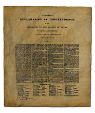 Texas Declaration of Independence - 1836
