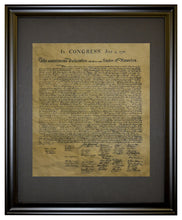 Declaration of Independence  1776, Framed