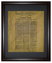The Definitive Treaty between the United States and Great Britain - 1783, Framed