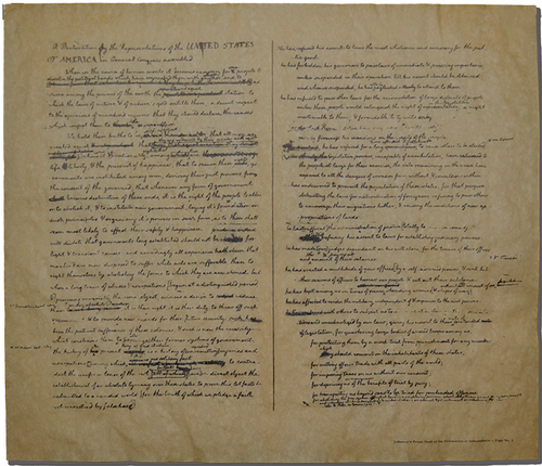 Thomas Jefferson's Rough Draft of the Declaration of Independence <br> (14
