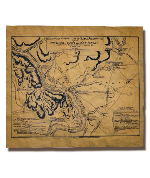 Plan of the operations of General Washington at Trenton